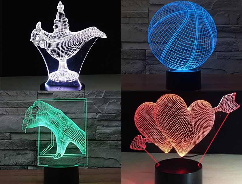 3d glow light