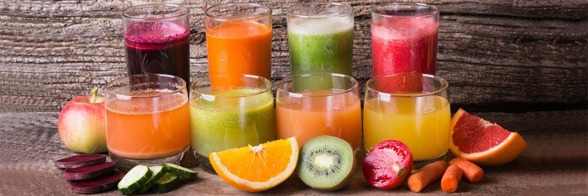 8 different juices