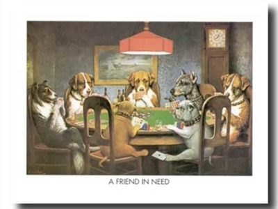 Art Prints Inc Dogs Playing Poker at Table Animal Picture