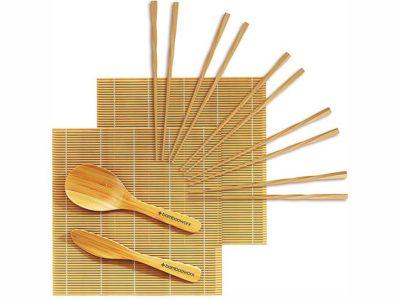 BambooWorx Sushi Making Kit Deluxe with Chopsticks