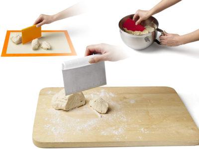 Chef'n Pastrio 3-in-1 Bench ScraperSet