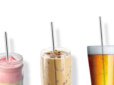 CompuClever Stainless Steel Straws