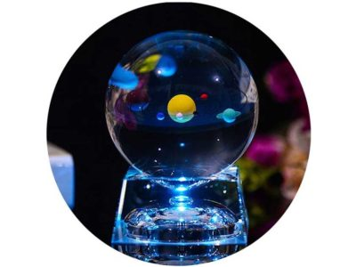 FTYtek 3D Crystal Ball with Solar System Model