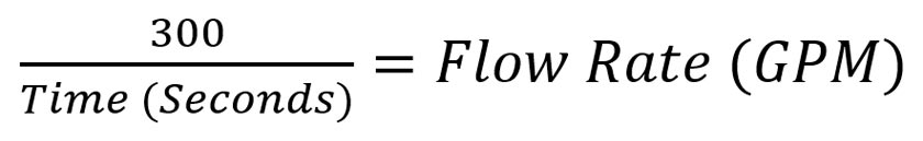 Flow Rate Equation