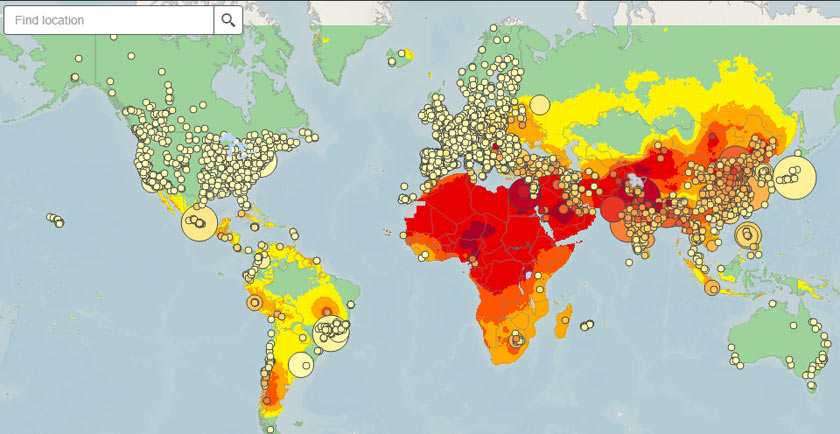 Global Ambient Air Pollution by WHO