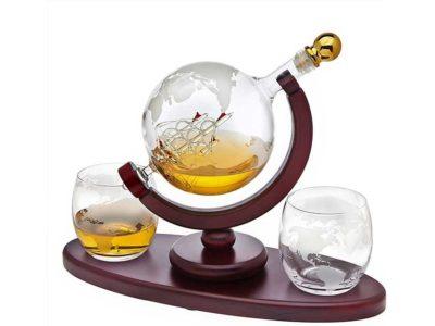 Godinger Whiskey Decanter Globe Set