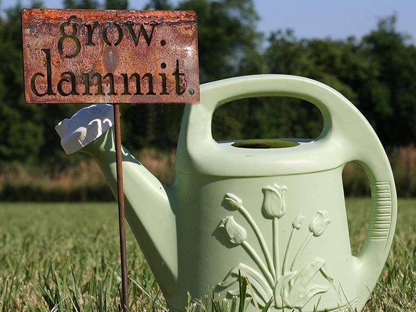 Grow Dammit Garden Ornament