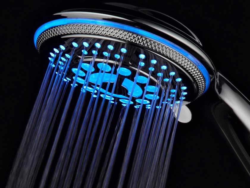 LED showerheads