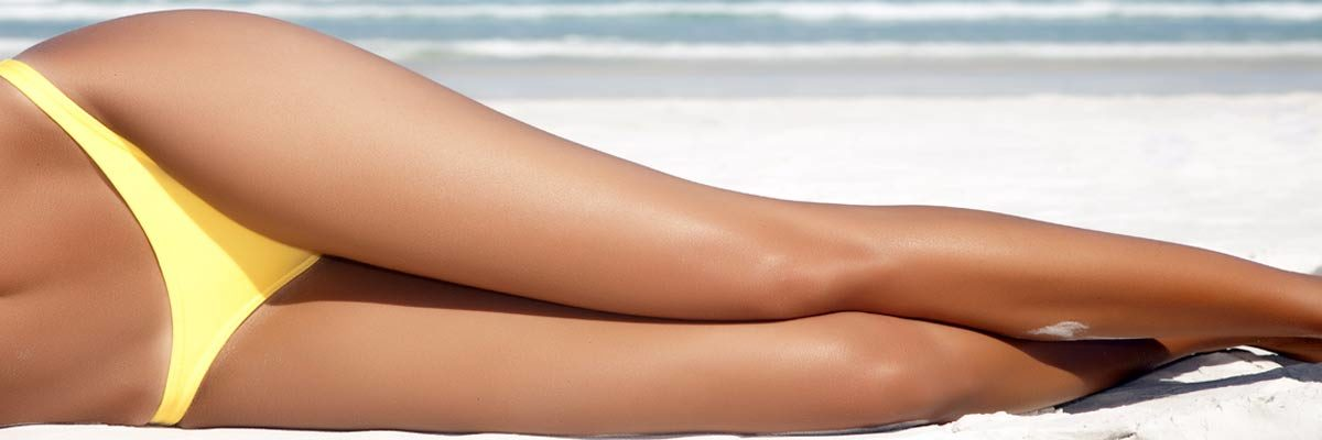 Woman who was treated with an IPL hair removal laser for home use
