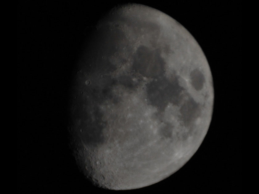 Image of the moon through our Celestron