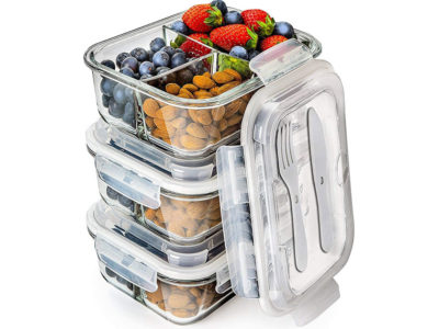 Prep Naturals Glass Meal Prep Containers
