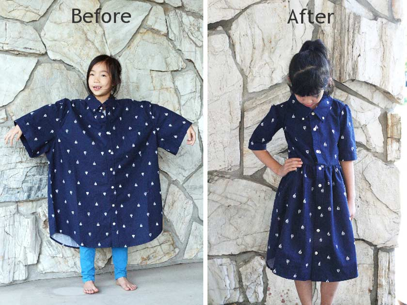 adult clothing remade for child