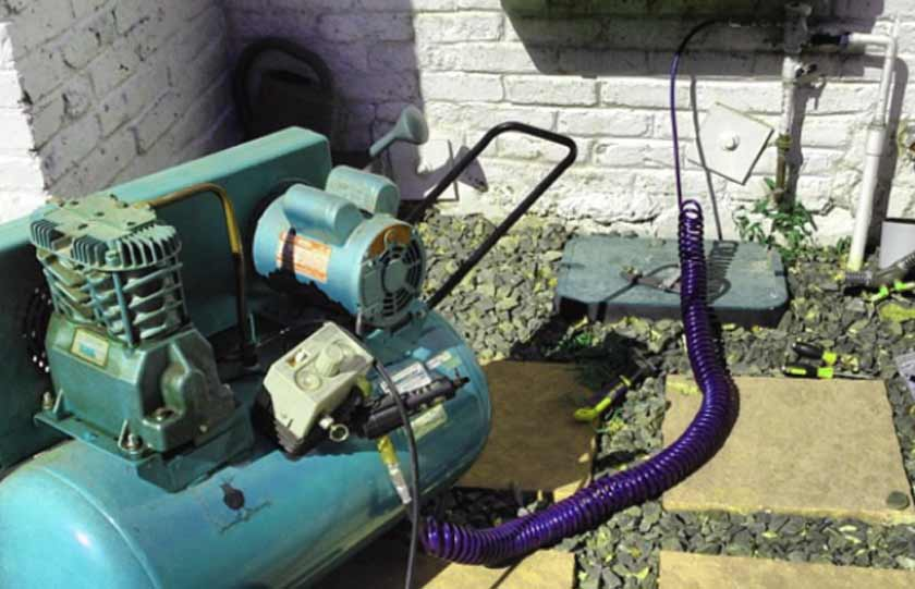 blow out sprinkler system with air compressor