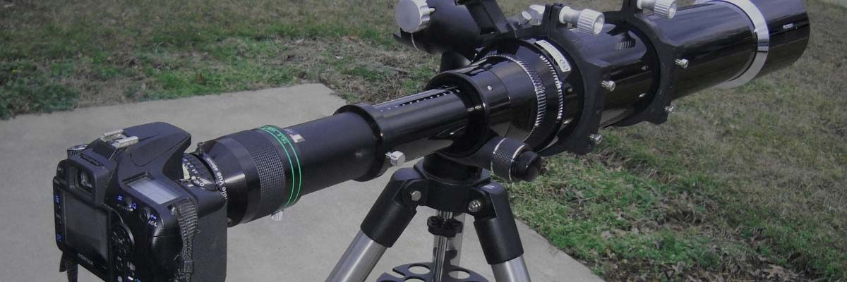 DLSR camera attached to telescope