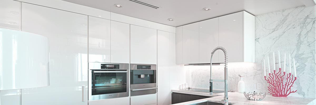 clean surfaces in the kitchen