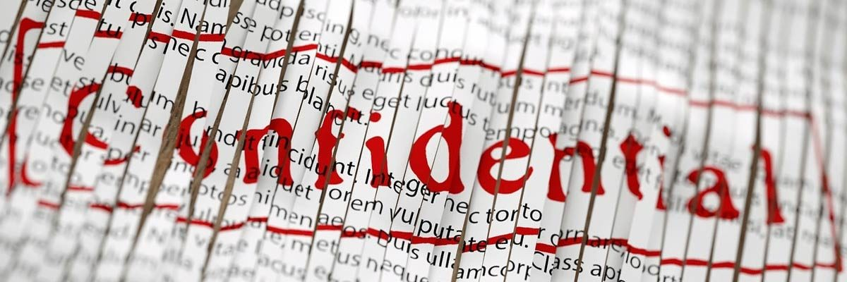 confidential shredded information