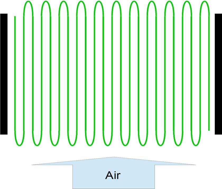 pattern of glass fiber sheets in HEPA