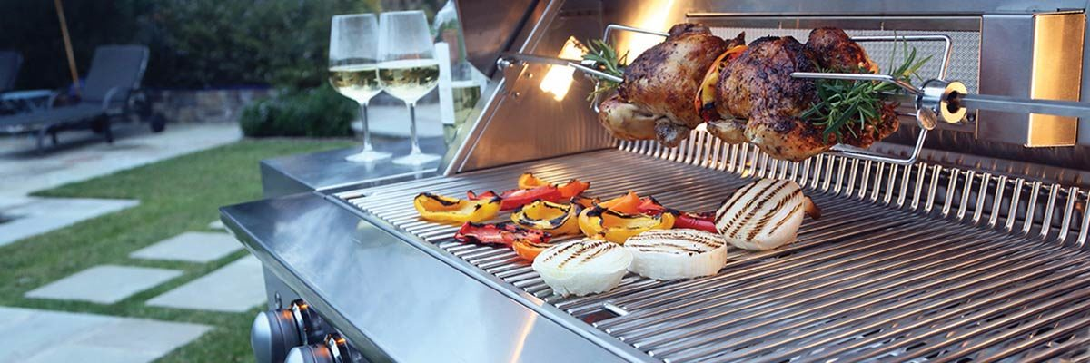gas grill on patio