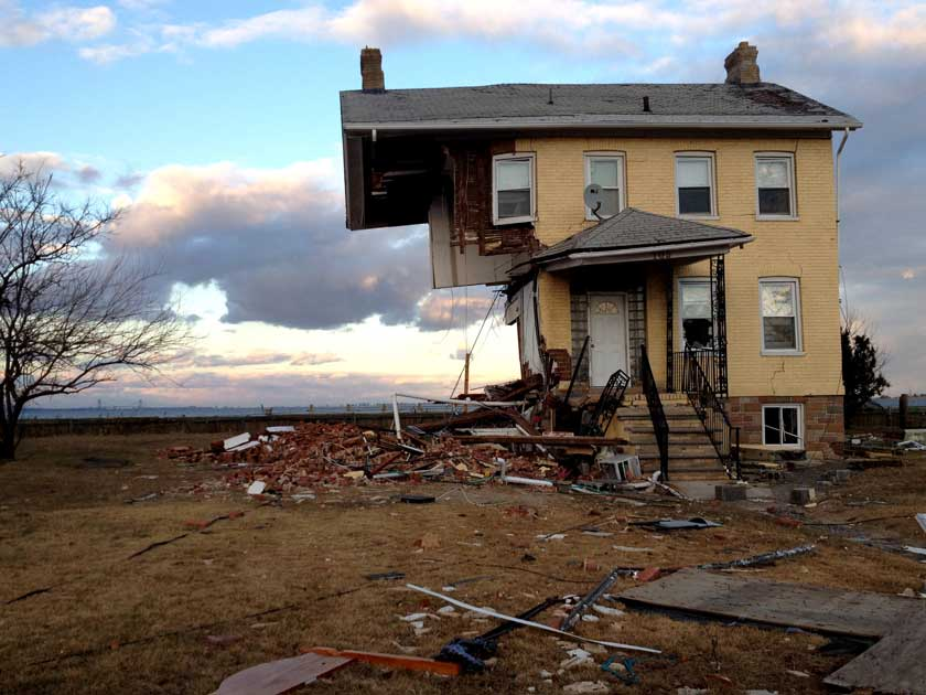 half house standing after hurricane