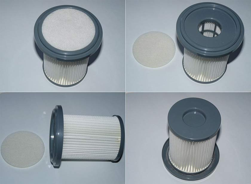 a HEPA filter from all angles