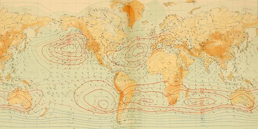 old meteorology chart