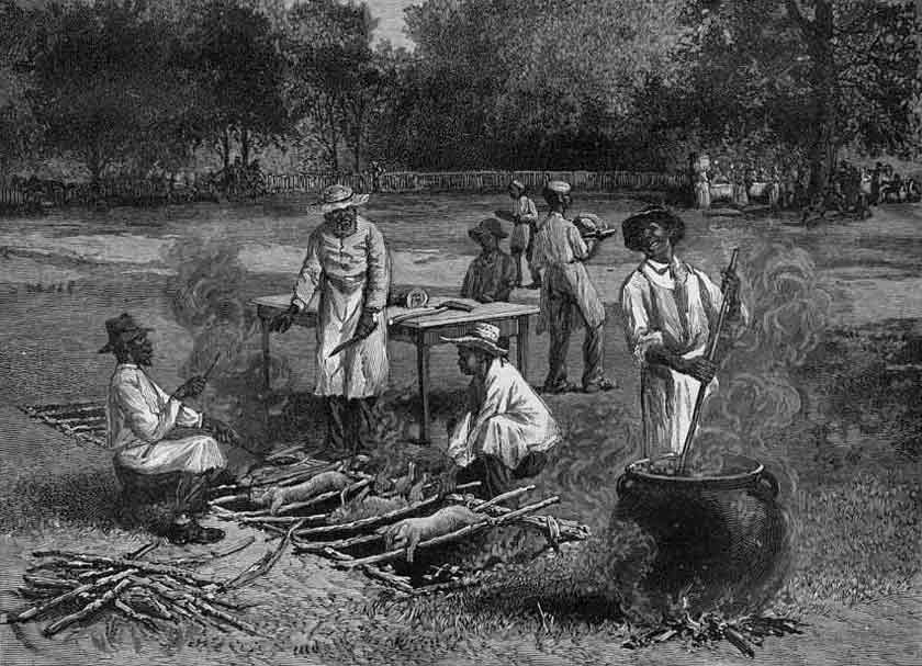 bbq in the old south