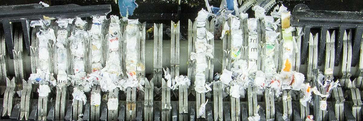 paper shredder detail