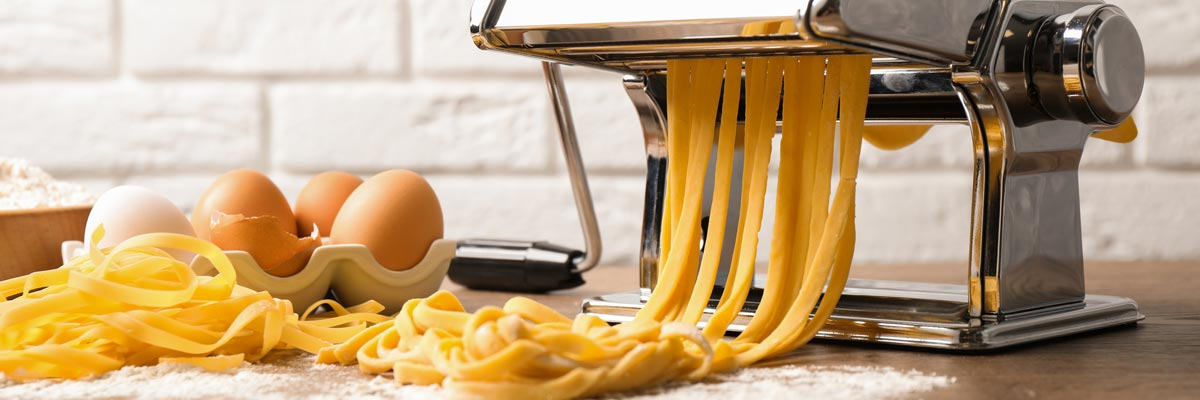 pasta maker in action