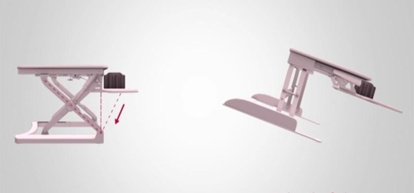 riser desk mechanisms