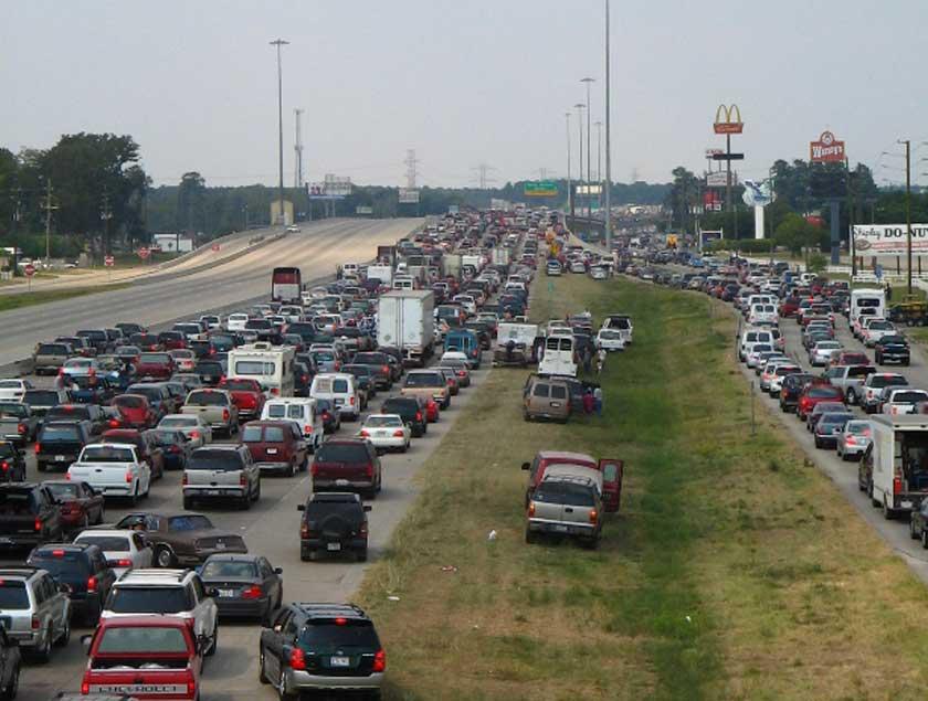 Hurricane Rita traffic jam