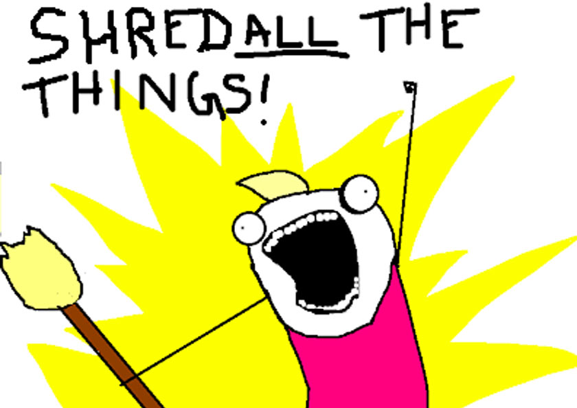 shred all the things cartoon
