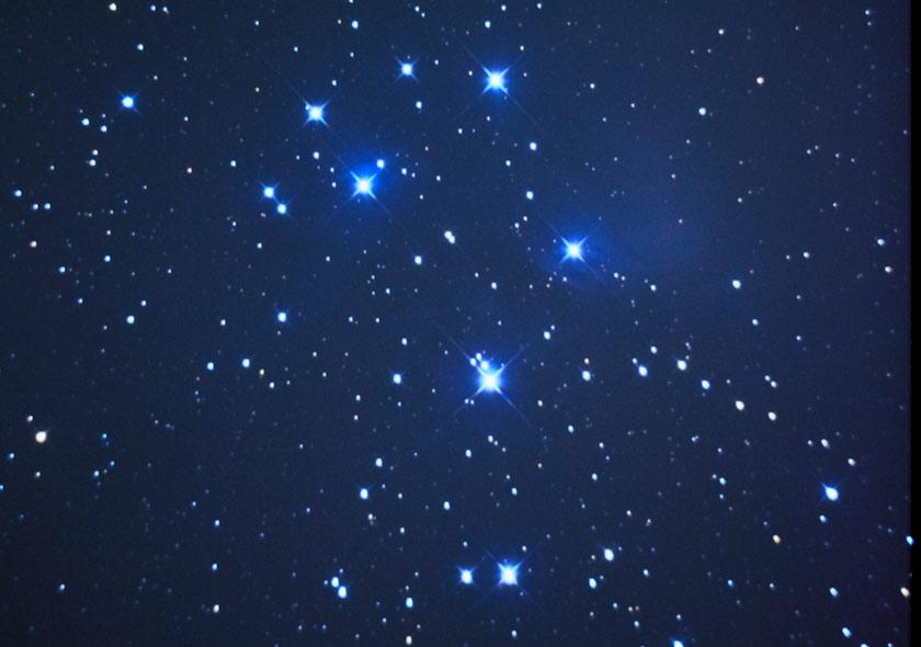 Pleiades through a StarBlast telescope