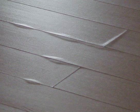 steam damage on laminate flooring