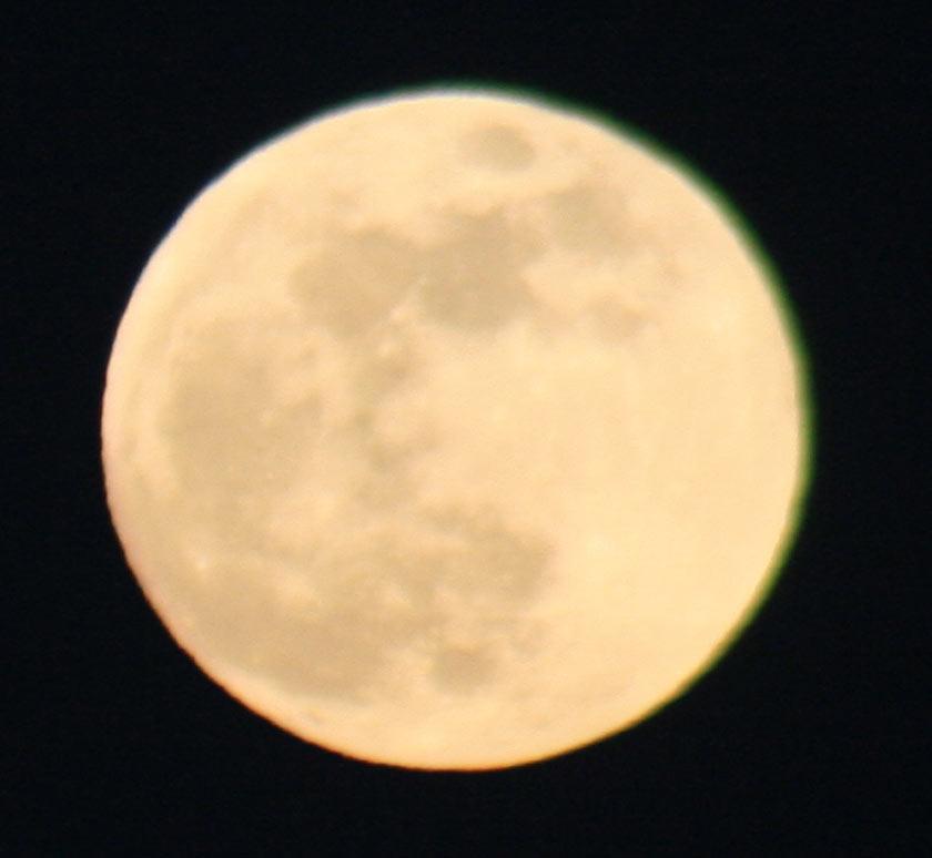 moon, a bit blurry
